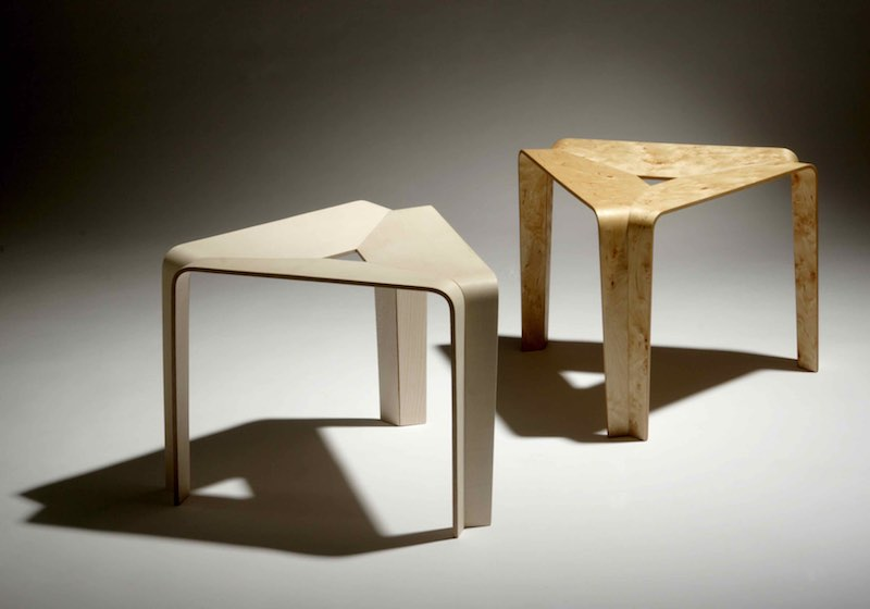 Stool 2004 Birch or ash D 50 cm x H 37 cm Limited edition of 8