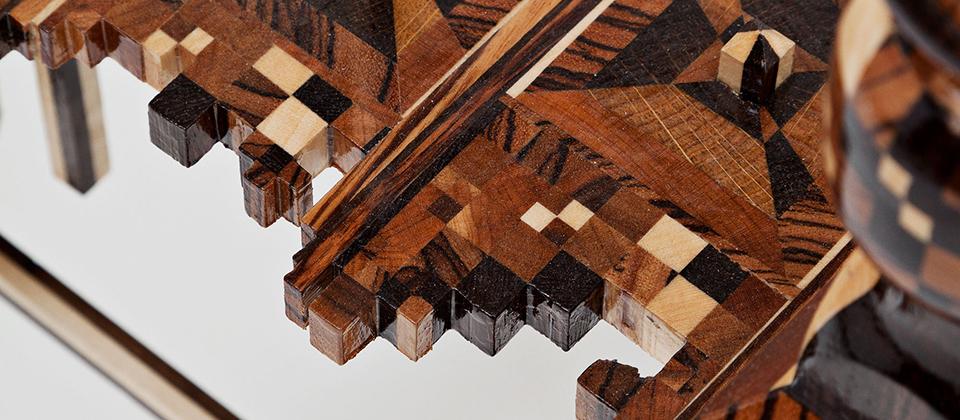 2009 Artwork detail Various woods, plaster 50 x 50 x 120 cm