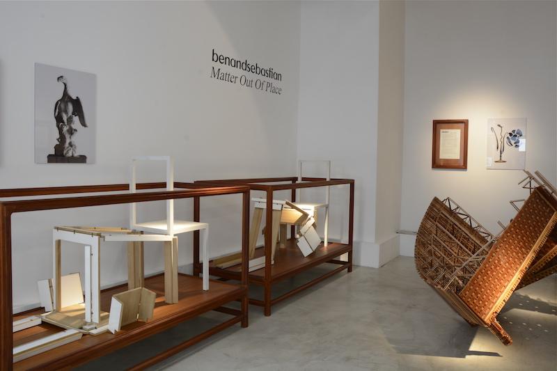 2010 Teak vitrine Exhibition Matter Out Of Place Galerie Maria Wettergren