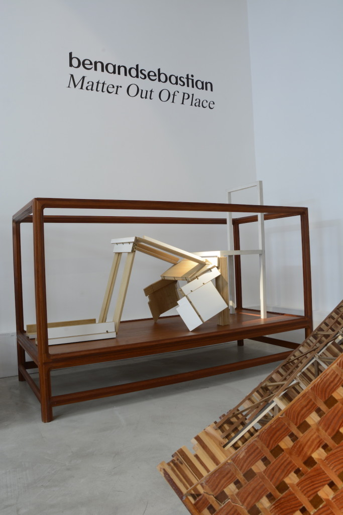 2010 Teak vitrine Exhibition Matter Out Of Place Galerie Maria Wettergren