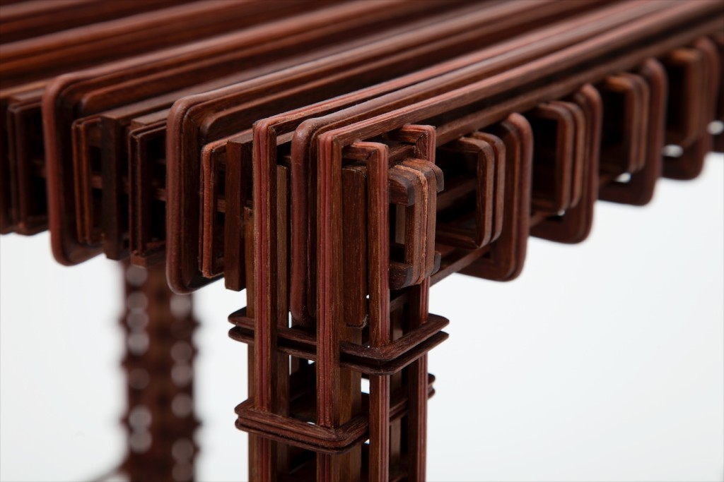 2012 Artwork detail Walnut, leather, wax, dust 40 x 40 x 45 cm