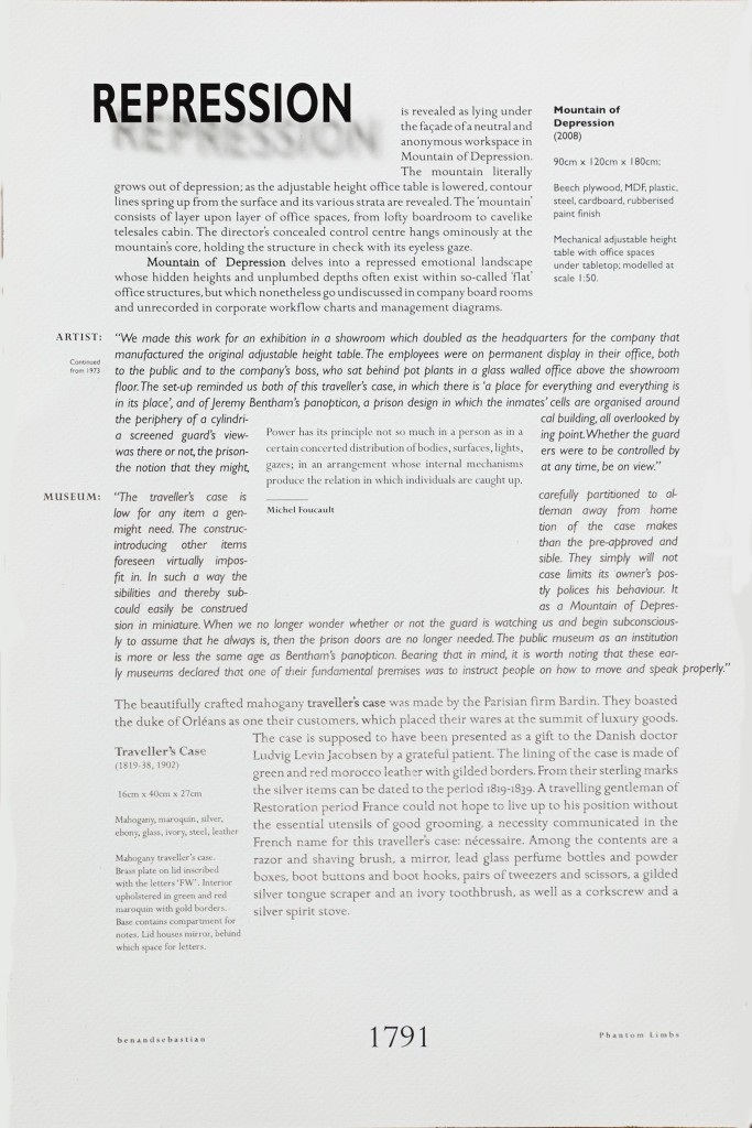 2008 Repression Text 68 x 48 x 5 cm