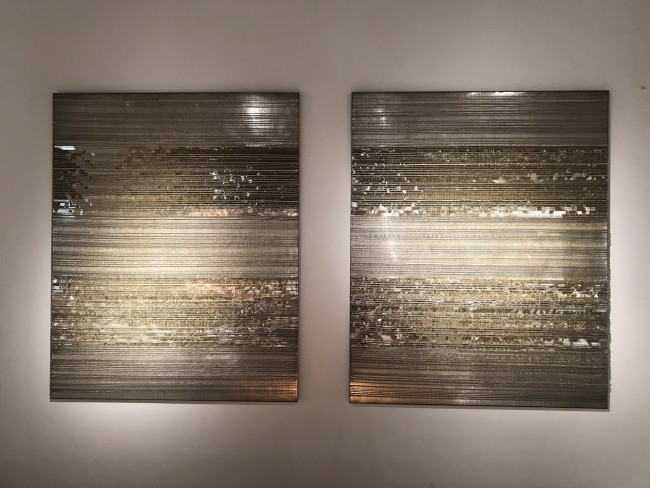 2016 Copper wires, mirror foil, 150 x 180 cm / each Unique piece