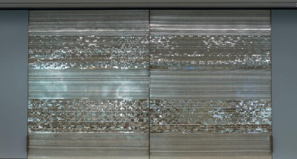 2016 Copper wires, mirror foil, 150 x 180 cm / each Unique piece