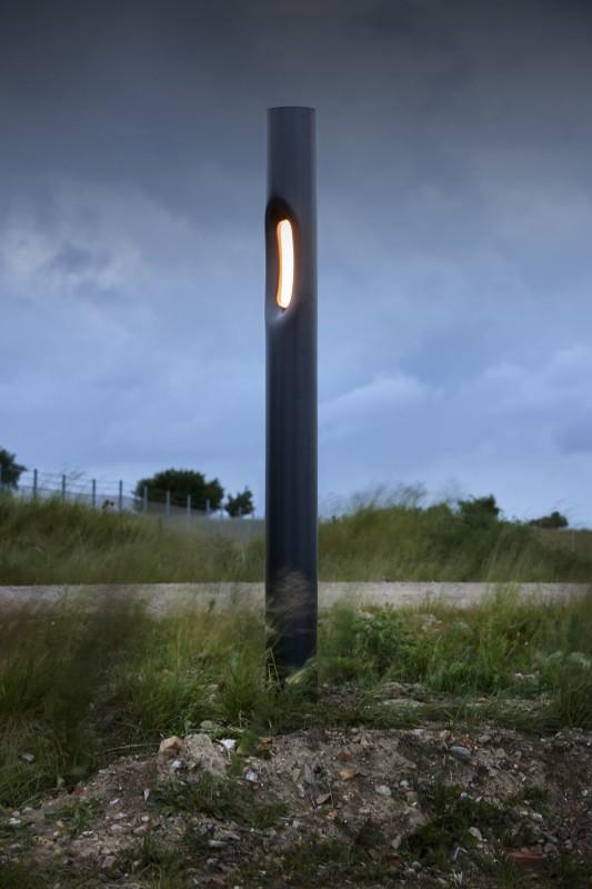 Blitz Steel tubes, LED lights D 22cm x H 265 cm