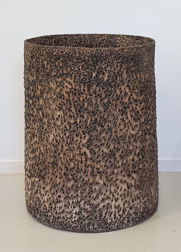 Earthenware with glaze H. 72 cm.  Dia. 53 cm
