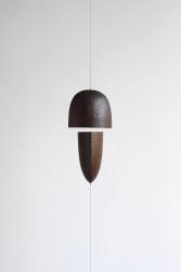 Solid smoked oak, leash, magnets 15 x 14 x 7.5 cm + adjustable strings Unique piece