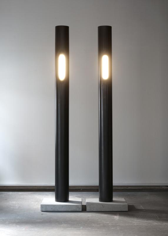 2018 Lamp Steel tube, LED light 280 x 30 x 30 cm