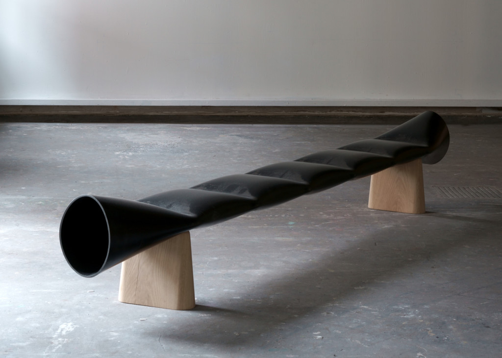 2018 Bench Steel tube 260 x 35 x 45 cm