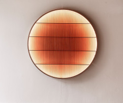 Ane Lykke, Light Object, 2018, Cypress wood, LED, 160 x 160 cm