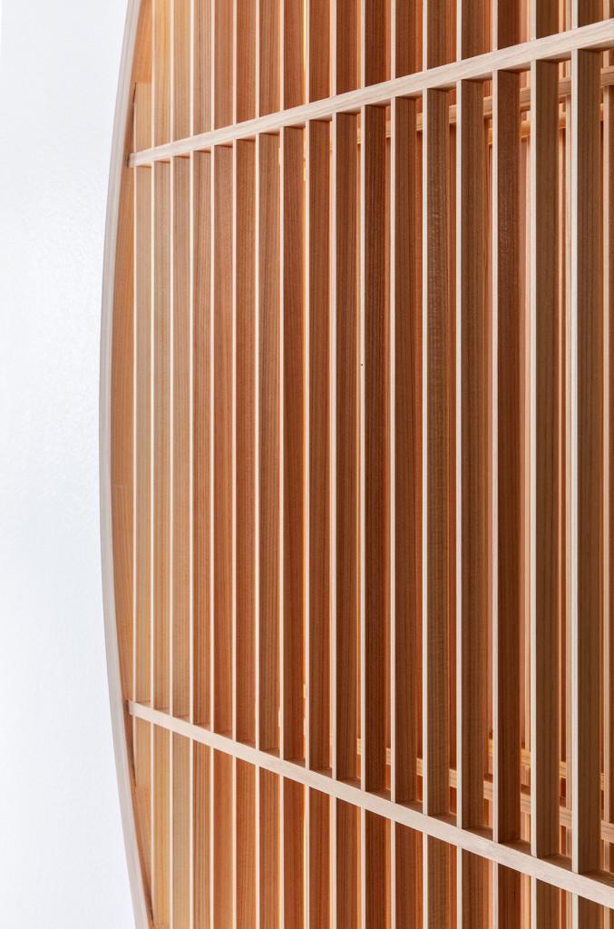 Ane Lykke, Light Object, 2018, Cypress wood, LED, 160 x 160 cm