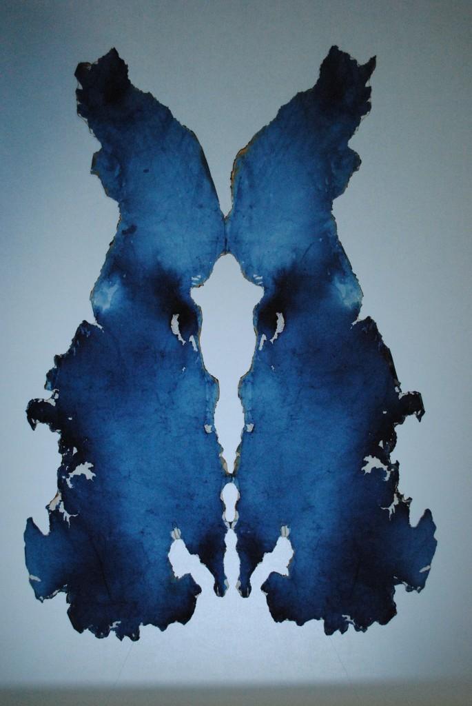 Paper, colored water, ash 79 x 114 cm Unique piece