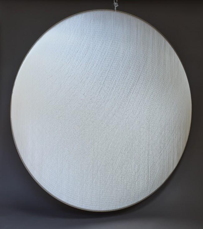 2019 Polyester thread, birchwood, polyester textile, glass wool 200 x 200 cm