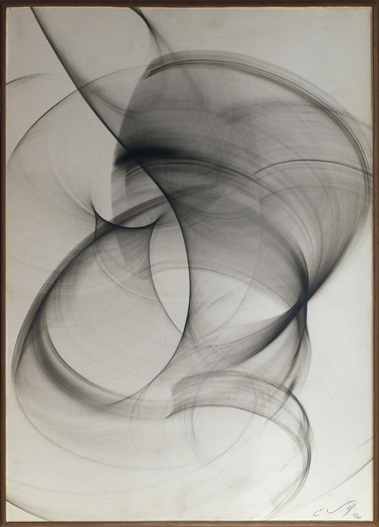 40 x 56 cm.  Original silver print by the artist. Original wooden frame.