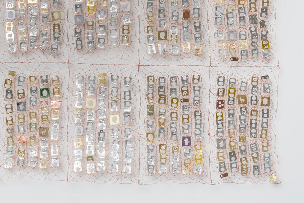 Copper wire, metal objects 110 X 110 cm Unique piece