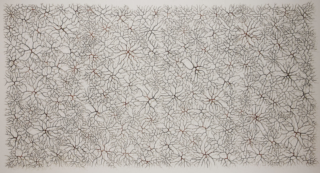 Wall hanging Size: 200 X 300 (or 400 cm) Material: iron wire, copper wire
