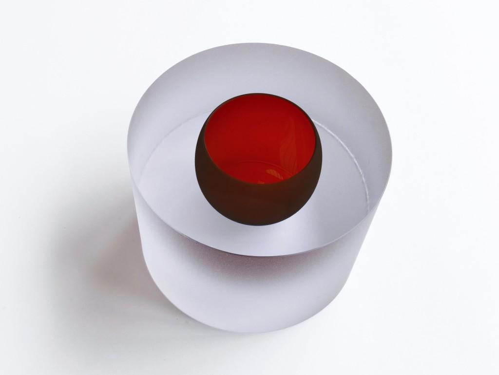2019 Mouthblown, handcut and mattbrushed glass 12,5 x 17,5 cm Unique piece
