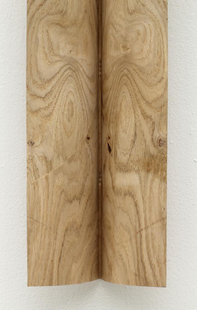 Detail 2019 111 x 18 x 10 cm Steam bent oak Unique piece made by the artist