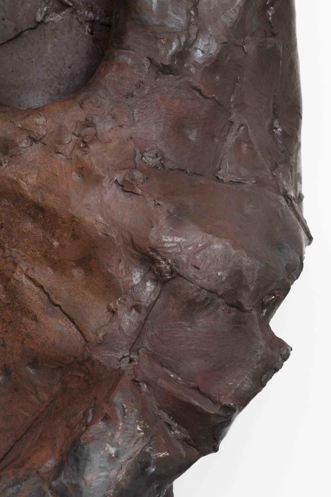 Burnt steel, lacquer 135x25 x50 cm Unique piece