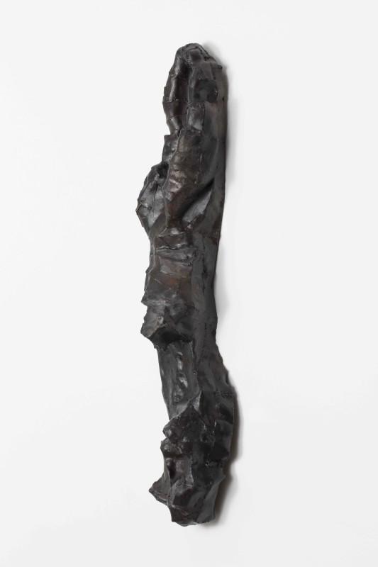Burnt steel, lacquer 154 x25 x40 cm Unique piece