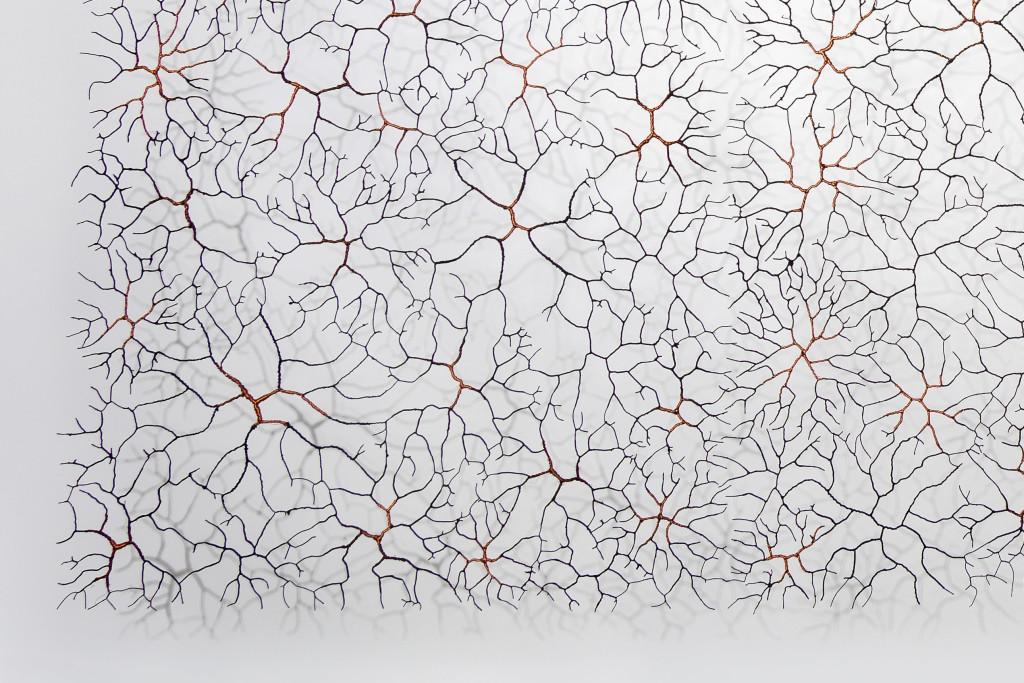 Iron wire, copper wire, paper pulp H 200 x W 300 (or 400 cm) Unique piece
