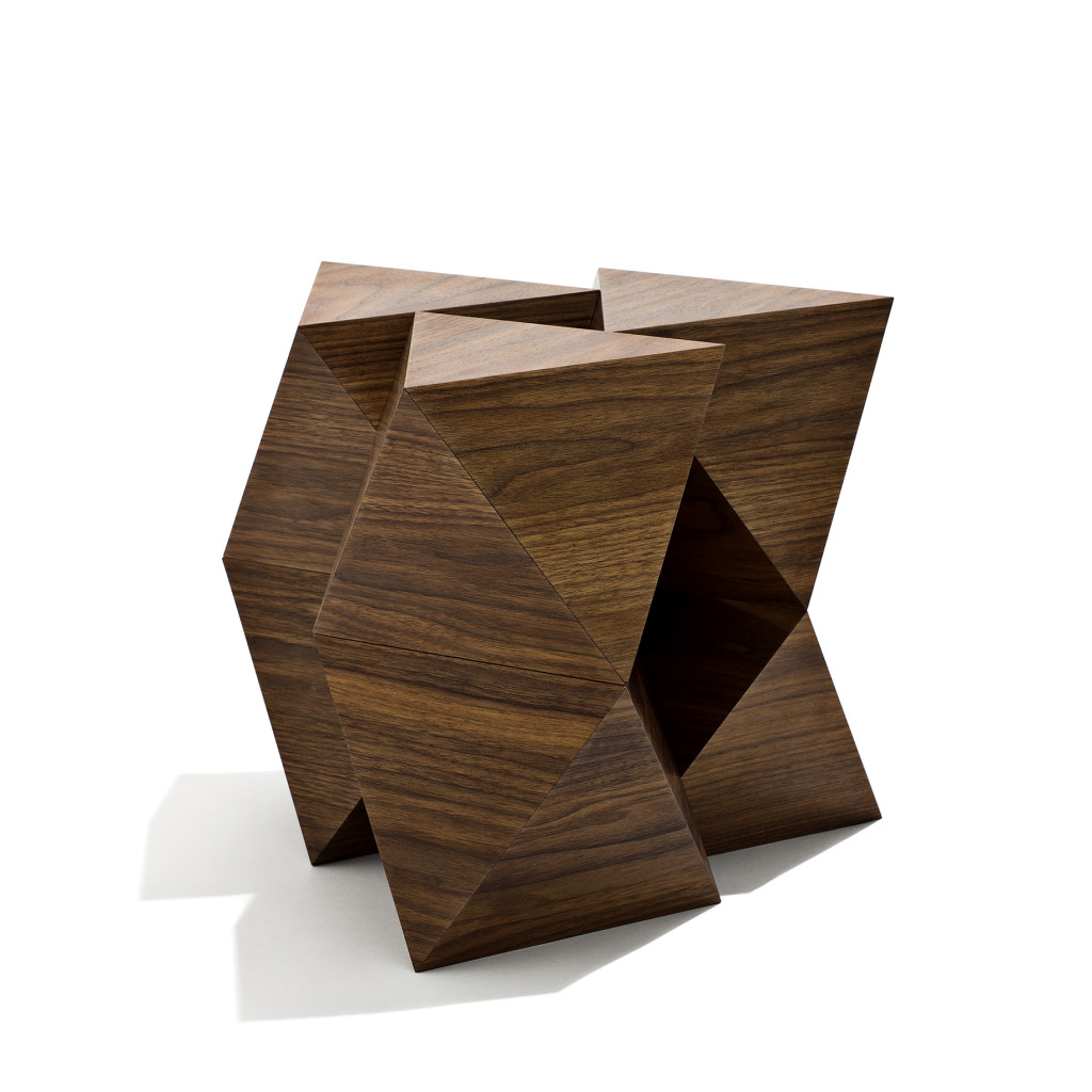 2015 American Walnut and magnets 40 x 40 x 40 cm Limited edition of 8
