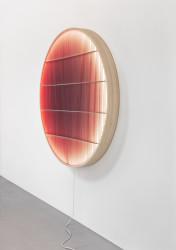 2019 Cypress wood, LED Ø160 x 12 cm Limited edition of 8