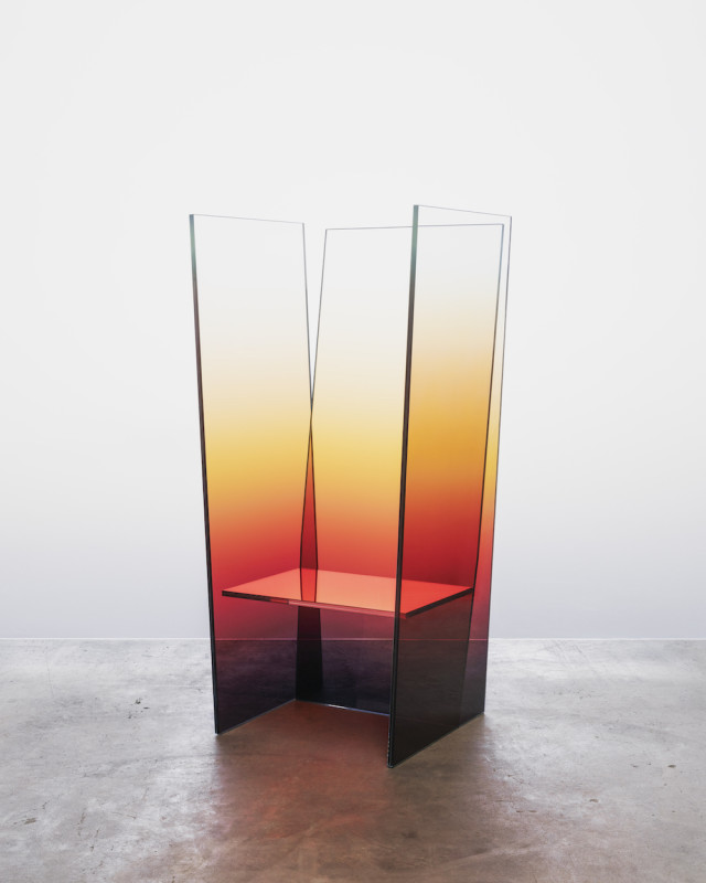 Glass 74 x 67 x 150 cm Limited edition of 8