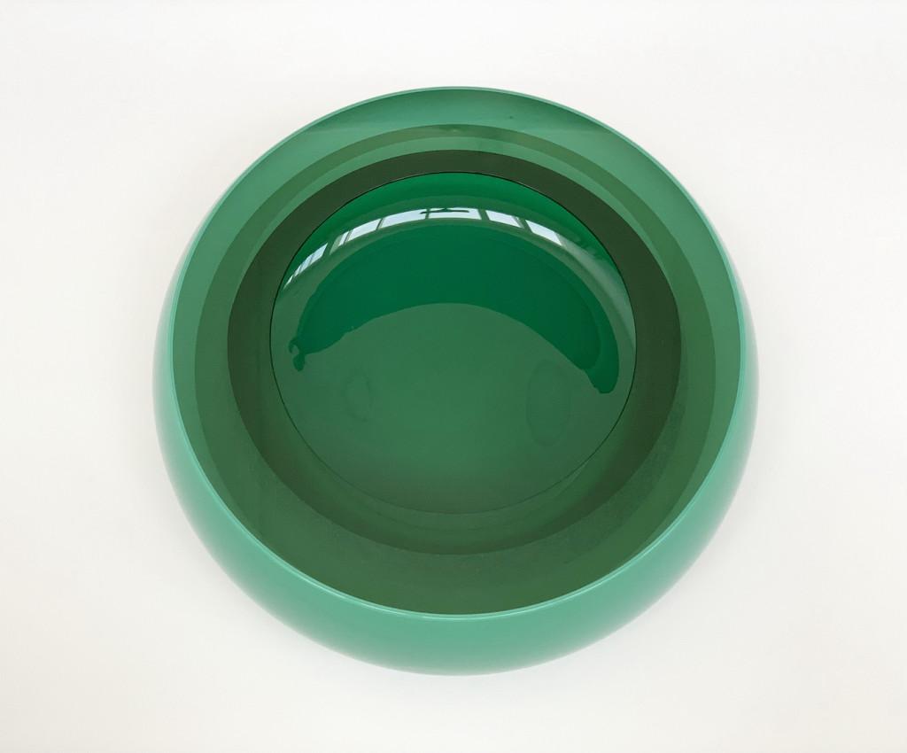 2021 Blown, cut and polished glass Ø31,5 x 11 cm Unique piece