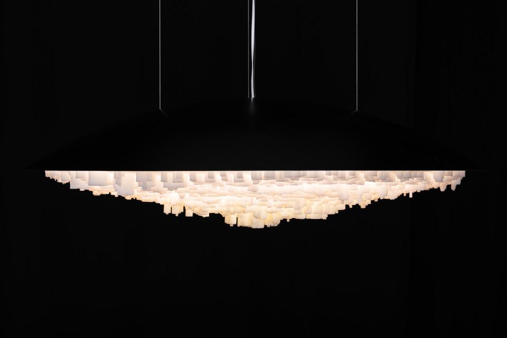 BORIS BERLIN & DANIEL BERLIN Resin, fiberglass, LED Ø110 x 32 cm Limited edition of 8