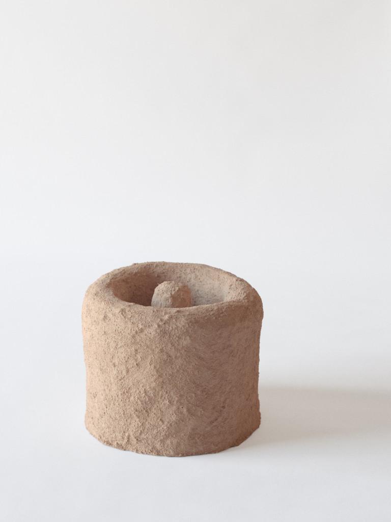 2016 Fiber concrete, pigments from crushed bricks Ø30 x 25 cm Unique piece