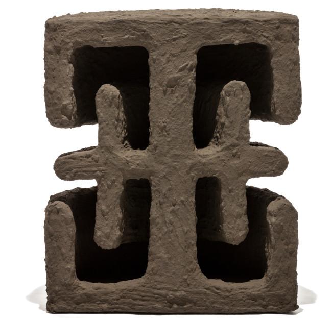 2018 Fiber concrete, pigments from vulcanic ash 74 x 40 x 88 cm Unique piece