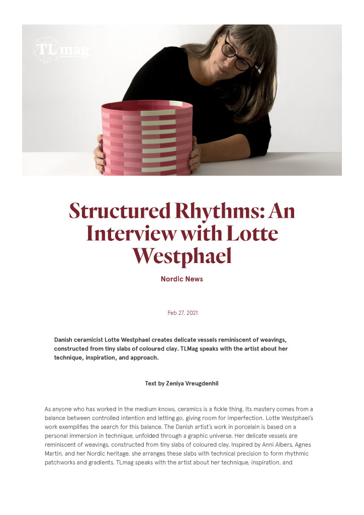 Structured Rhythms- An Interview with Lotte Westphael – TLmagazine_Page_01