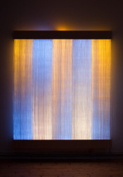 2011 Optic fiber, paper yarn, wood, light monitors H 290 x W 250 x D 20 cm Unique Piece